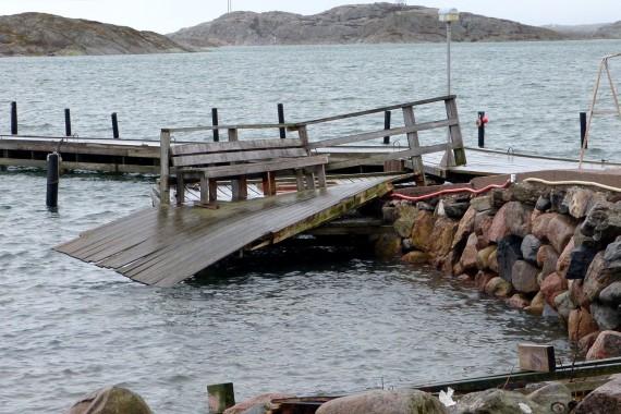 Stormen Egons skador i Halsbäck inte så omfattande.
