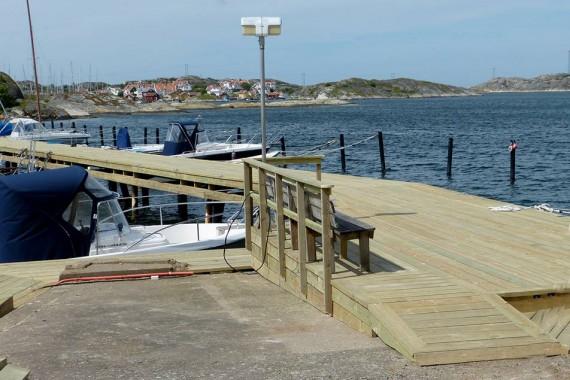Båtbryggan nu komplett – nästan