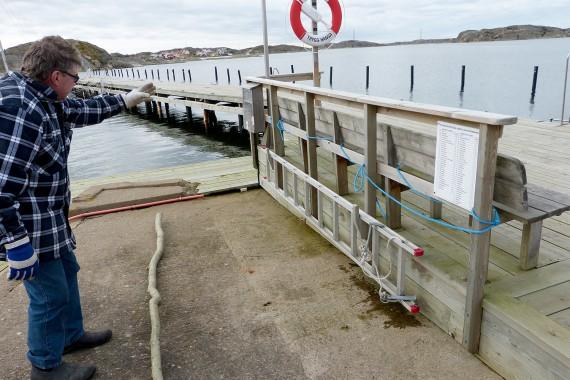 Räddningsstegen vid Båtbryggan